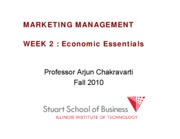 Marketing Management Lecture Week 2 FALL 2010