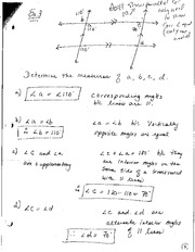 Math 2201 Measuring Angles Notes