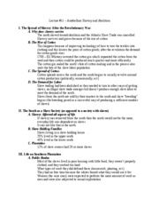 Lecture__11_�_Antebellum_Slavery_and_Abolition_-_Outline