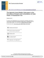 The Agonistic Social Media- Cyberspace in the Formation of Dissent and Consolidation of State Power