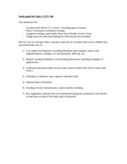 Study guide for Quiz 2