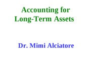 2 Accounting for Long term assets