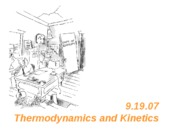 Lecture 5 - Thermodynamics & Intro to Metabolism