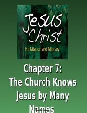 JesusChristHisMissionandMinistry-PowerPoints-Chapter7