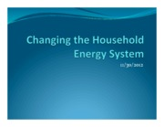 Our household energy system