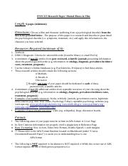 research papaer handout