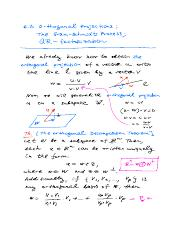 NOTES for Math-250 Sect.-6.3 Orthogonal Projections The Gram-Schmidt Process and QR factorization wi