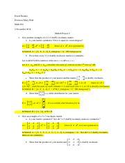 FuentesDavid_MatlabProject2_Answers pdf - David Fuentes Professor