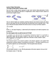 Lecture 5 Notes Polarization