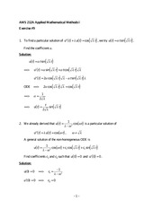Exercise 9 Solutions