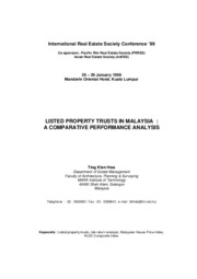 Ting_Listed_Property_Trusts_In_Malaysia_A_Comparative_Performance_Analysis