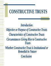 Constructive Trusts - Law of Equity, Trusts & Probate I - Copy.ppt