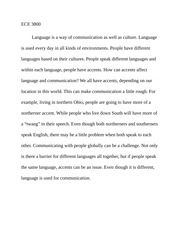 ECE 3800 - What is Language