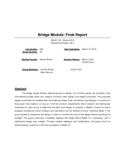 Final Group Bridge Module: Final Report
