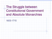 The Struggle between Constitutional Government and Absolute Monarchies v.2
