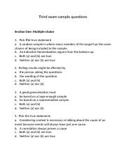 File 5 Third exam sample questions