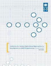 UNDP - Human Rights Based Approach Indicators.pdf