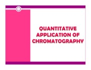 Lecture quantitative analysis in chromatography student
