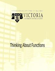 5. Thinking About Functions