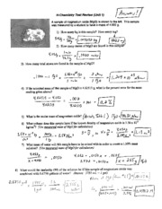 Molar Mass and Density Test Review with Answers