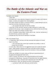The Battle of the Atlantic and War on the Eastern Front
