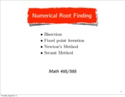 Numerical Analysis Lecture 2 Notes