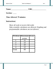Mact 1121, Spring 2014, Midterm 1