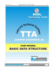 BSNL-TTA-JE-Basic-Data-Structure