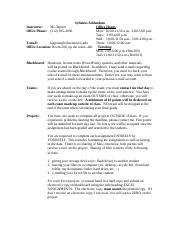 Syllabus Addendum for 2014-2015 - revised Fall 2014