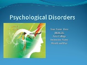 BEH225 Week 8 Psychological Disorders - 16 slides