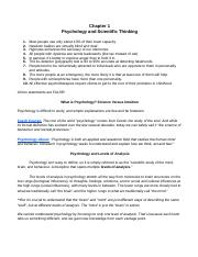 Chapter 1 - Psychology & Scientific Thinking.docx