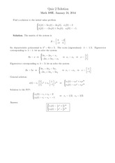 Quiz 2 Solution on Linear Analysis