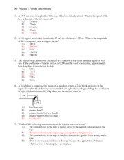 physics forces test review answers