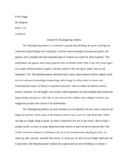engl 115 Journal #4