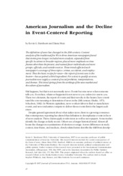 Barnhurst and Mutz-Decline of Event Centered Reporting