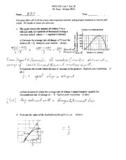 MTH 122 Winter Practice exam with answers