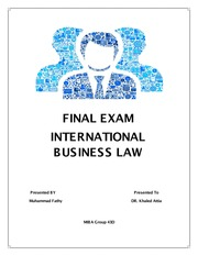 Final Exam International Business Law.Muhammad.Fathy