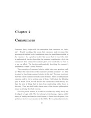 Chapter 2 - Consumer Preferences