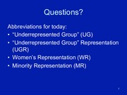 Lecture Slides 12 Minority Representation