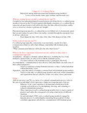 Chapter 8 Co-Cultural Theory Worksheet