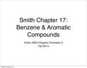 Ch 17 - benezene and aromaticity-S2015