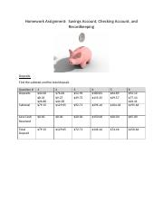 Savings Account Checking Account Recordkeeping.docx