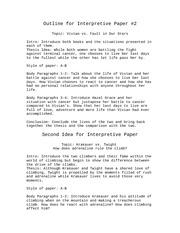 Interpretive essay format