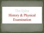 19 - The Spine - Hx & PE - D3