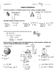 Chapter 12 Test Review Key