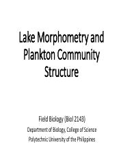 Activity 3_Lake Morphometry