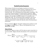 EECE 301 Note Set 28a Reading on Partial Fractions
