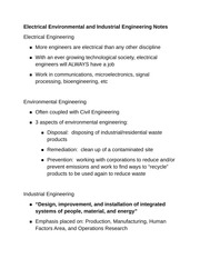 Electrical Environmental and Industrial Engineering Notes