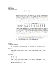linear programming model assignment questions essay Below is an essay on qat1 task 2 study guide from anti essays, your source for research papers, essays, and term paper  integer linear programming is one of the most important tools for analyzing problems such as transportation, assignment and transshipment problems linear programming allows the manager to solve for a.