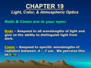 Chapter 19- Light, Color, and Athmospheric Optics